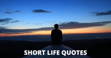 Short Life Quotes Featured
