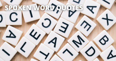 Spoken Word Quotes Featured