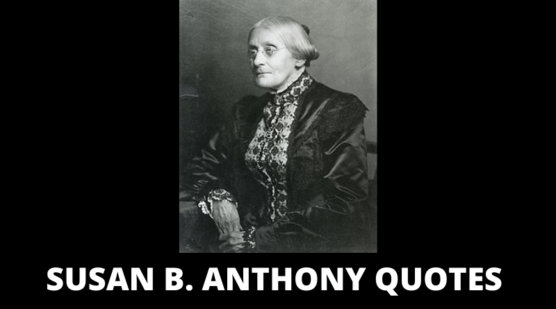 Susan B Anthony Quotes Featured