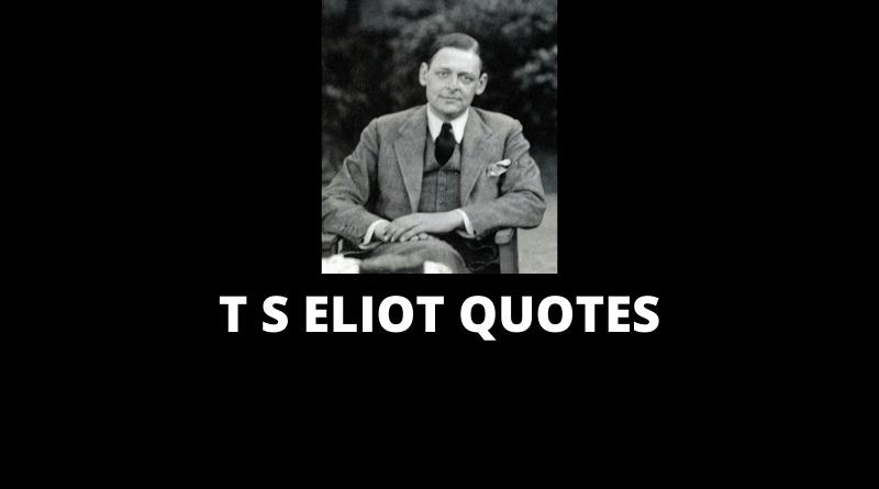 T S Eliot Quotes