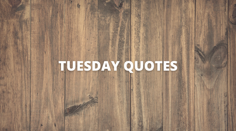 Tuesday quotes featured