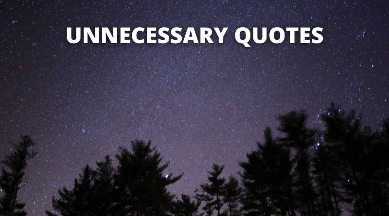 Unnecessary Quotes featured