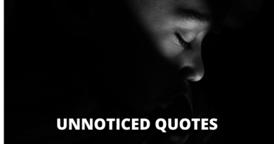 Unnoticed quotes featured