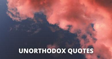 Unorthodox Quotes featured