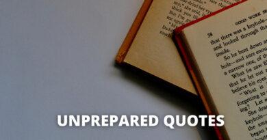 Unprepared Quotes featured