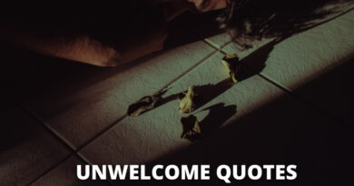 Unwelcome quotes featured