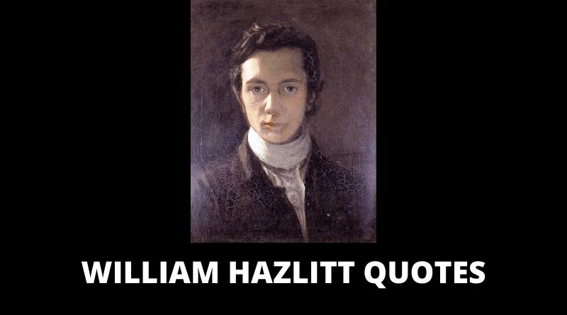 William Hazlitt Quotes featured