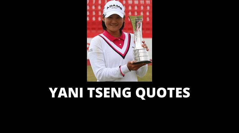 Yani Tseng Quotes featured