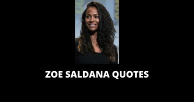 Zoe Saldana Quotes featured