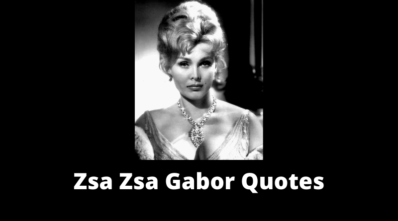 Zsa Zsa Gabor Quotes featured