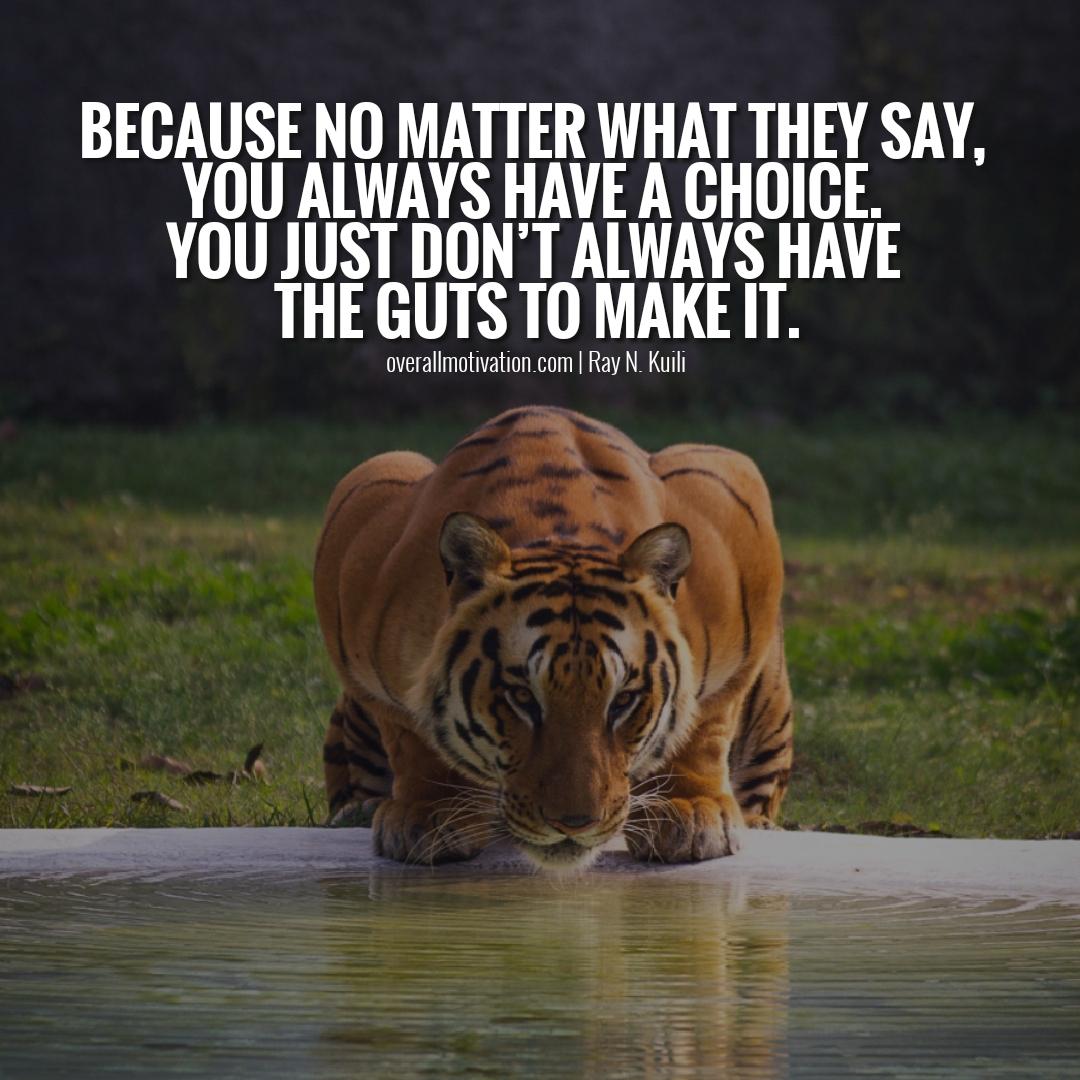 because no matter