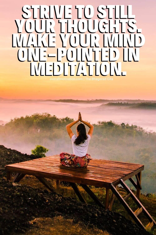 bhagavad gita quotes meditation