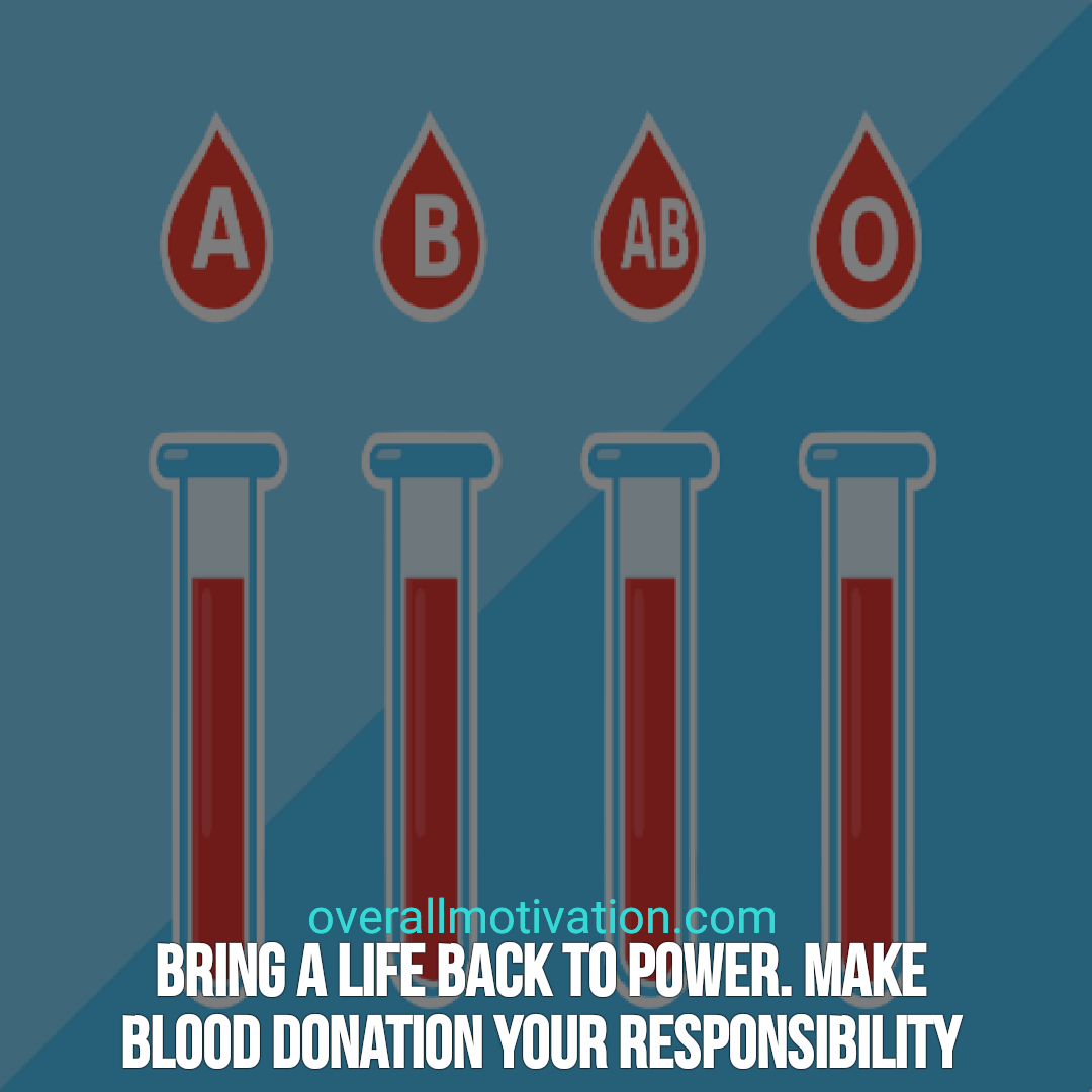 Blood donation quotes overallmotivation bring life back