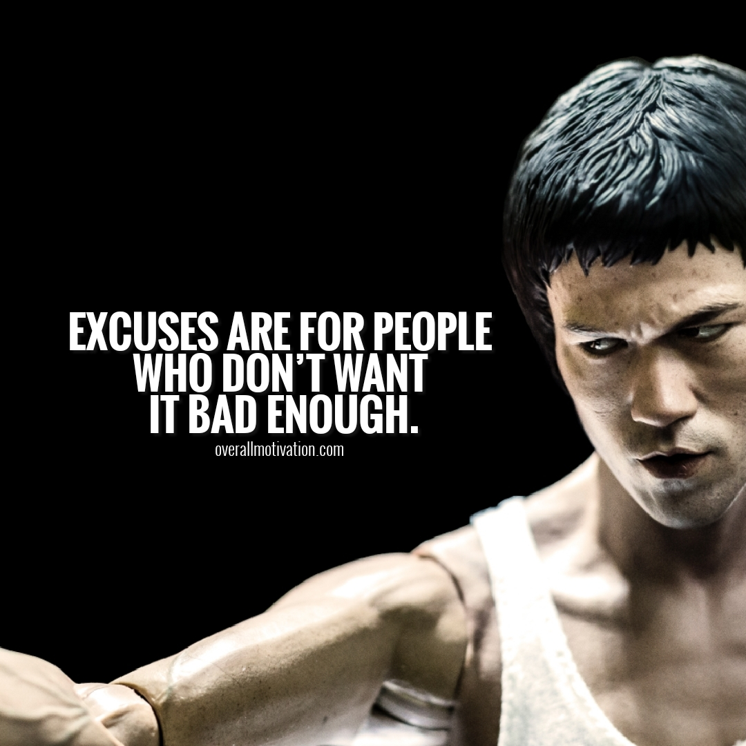 excuses are for people