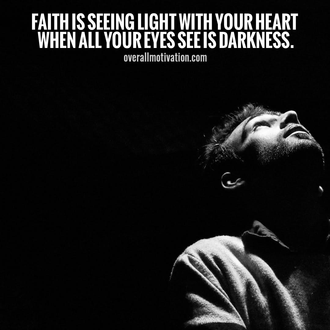 faith is seeing