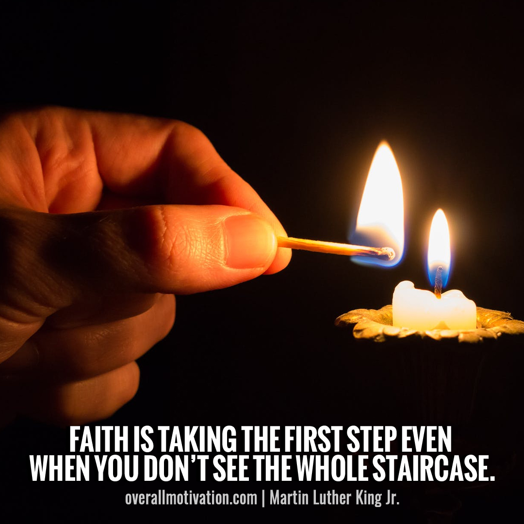 faith is taking first step