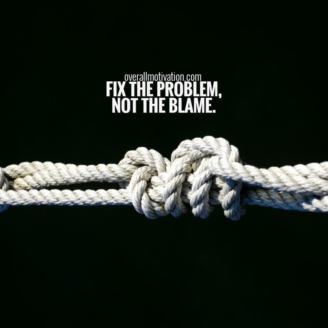 fix the problem