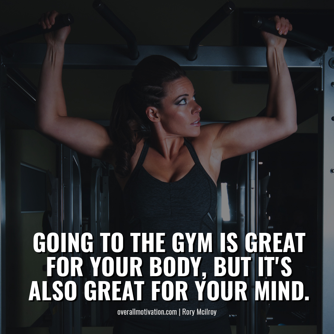 going to gym is great