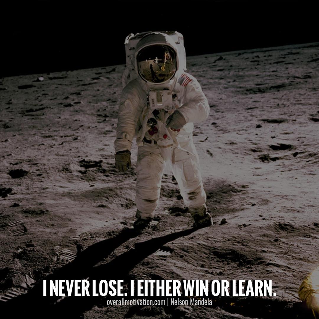 i never lose_nelson mandela quotes