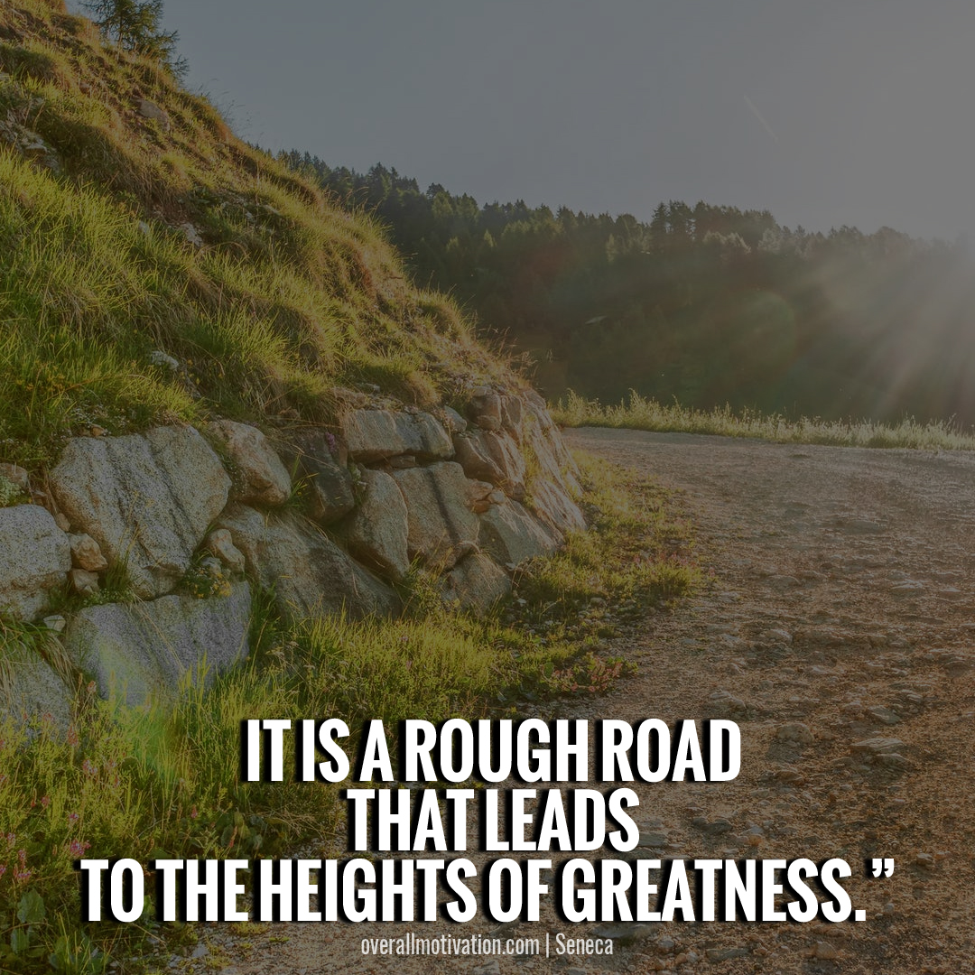 it is a rough road