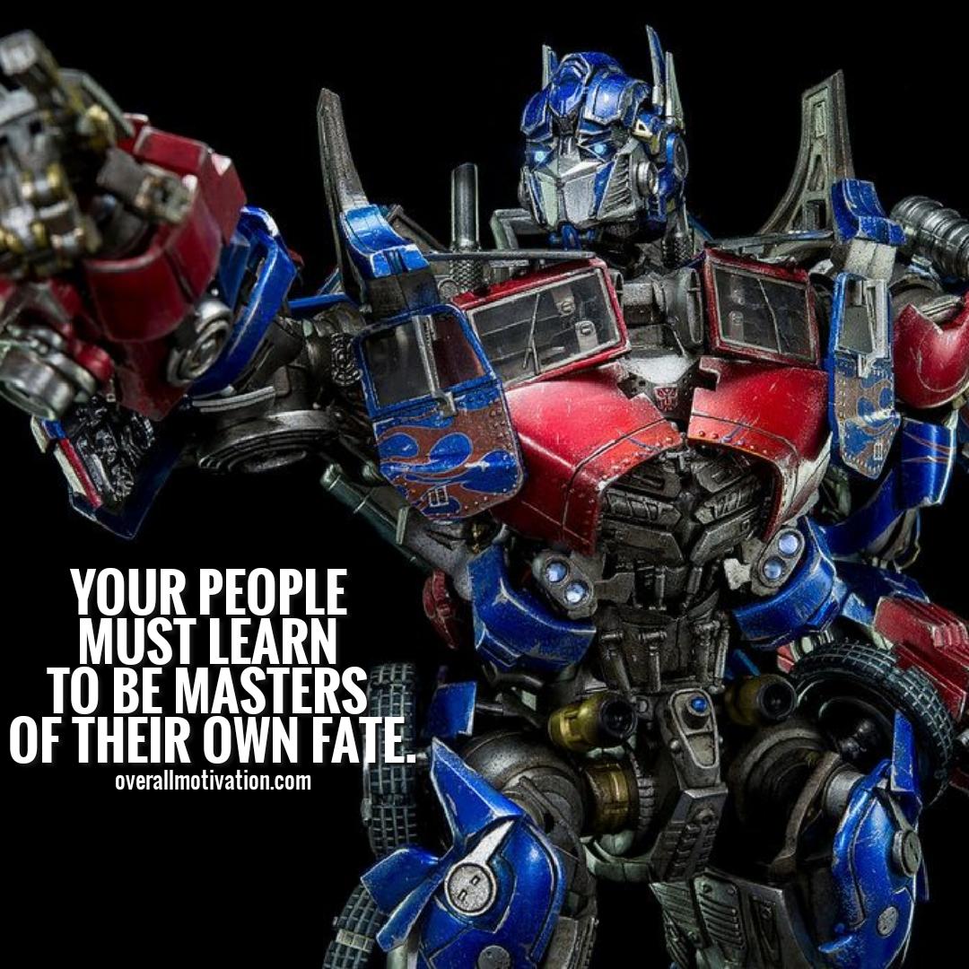 optimus prime quotes life