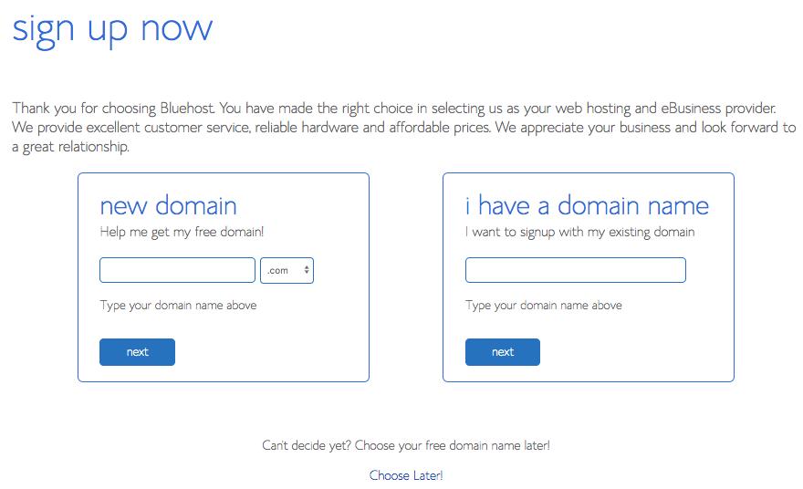 start blog domain name