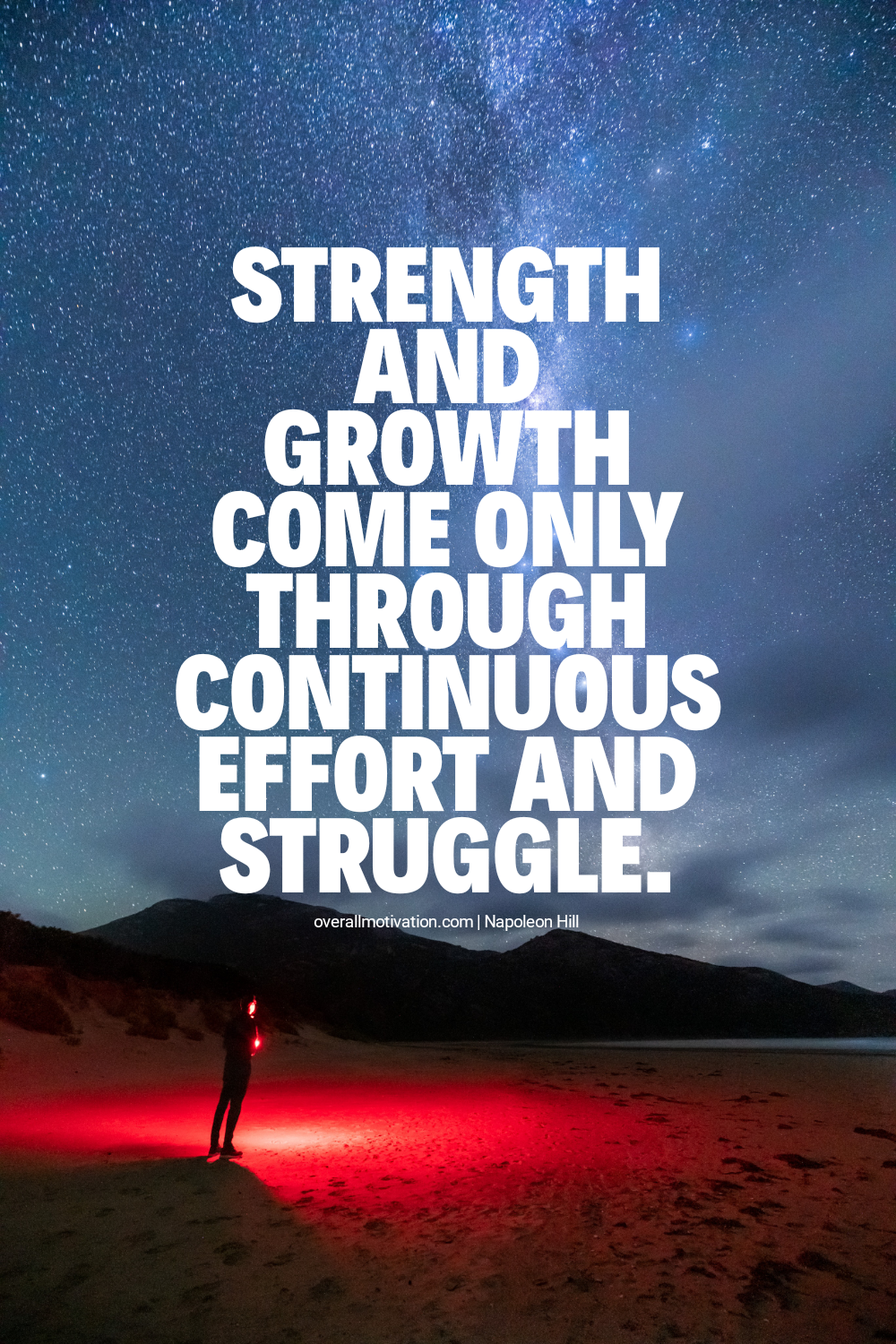 Strength and growth come only_Napoleon Hill quotes