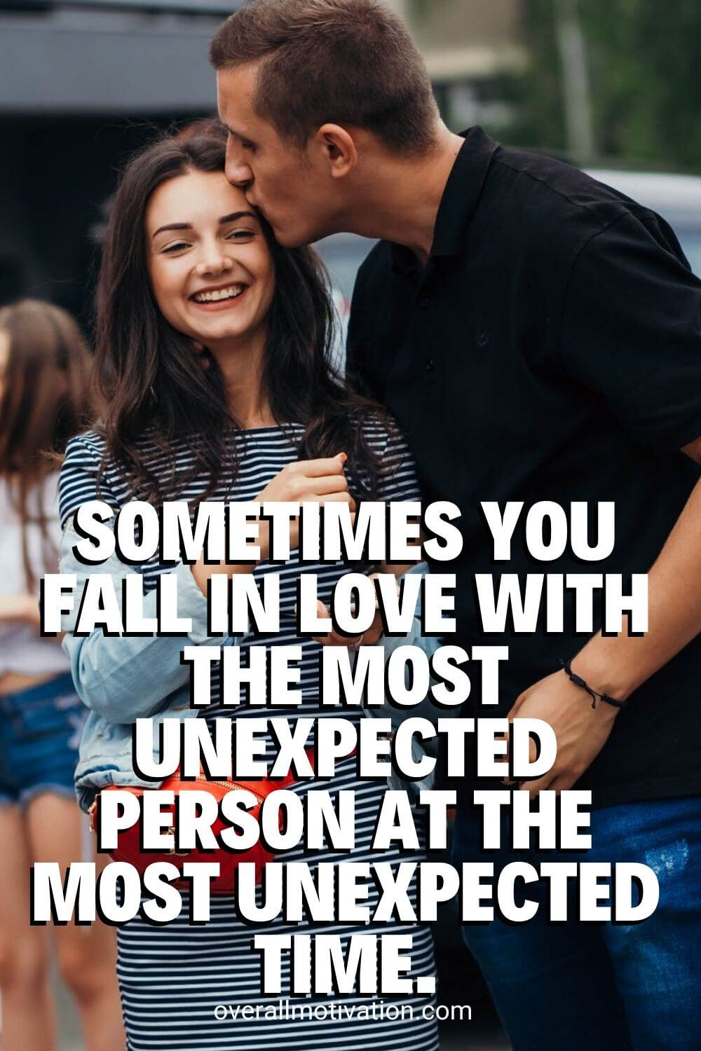 unexpected person
