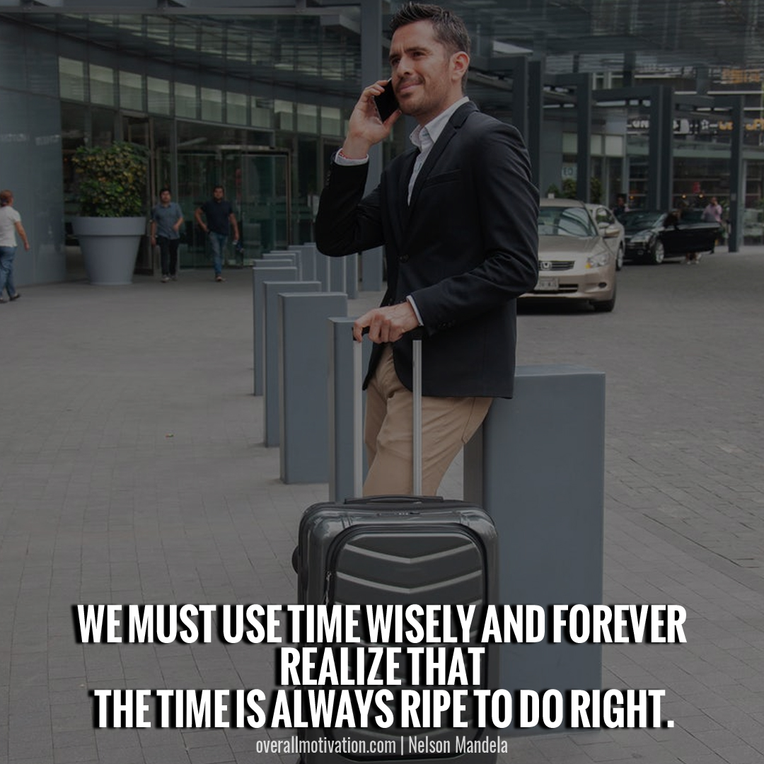 we must use time