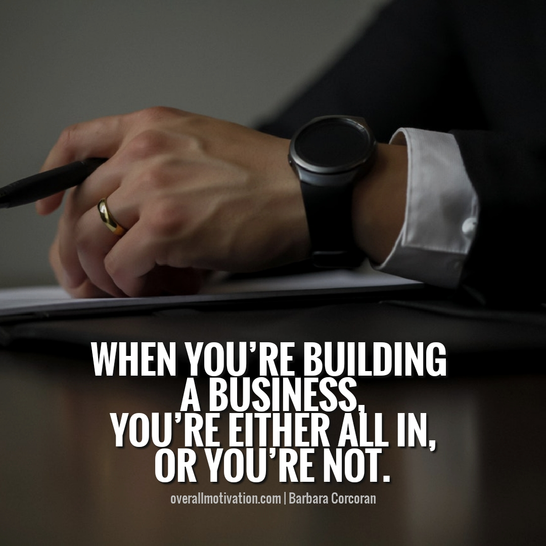when you are building